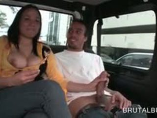 Busty Excited Teen Turns Into A Sex Bus Tramp