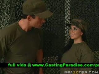 Jackie Daniels Gagging Huge Cock In The Army
