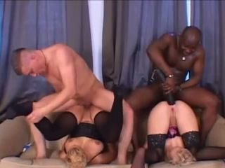 Gorgeous Black Man in Interracial Dap with White Women