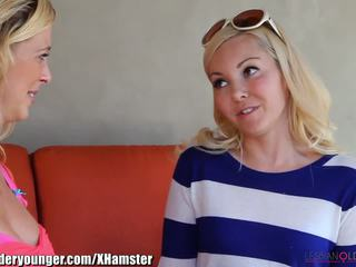 Lesbianolderyounger aaliyah amour eating milf dehors