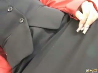 Asian takes a hard ramrod fucking