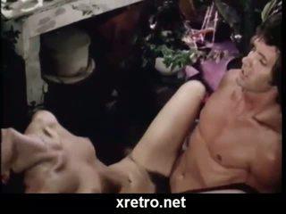 Ρετρό πορνό ταινία με lots του μαλλιαρό μουνί
