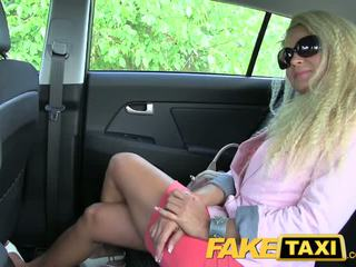 FakeTaxi Blonde MILF with a great ass wants to party