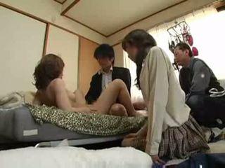groupsex, जापानी, pussyfucking, blowjob