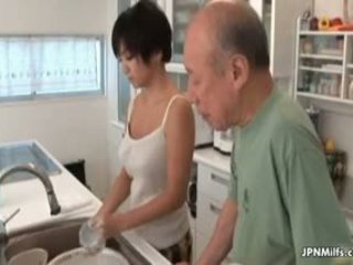 Horny Asian Milf Makes Out With An Old Part5