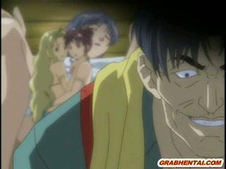 tits, cute, hentai, anime