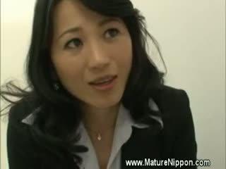 japoński, dojrzały, mamuśki, azjatyckiego