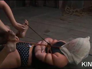 গরম বালিকা gets tied কঠিন