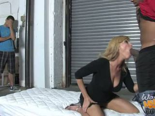 Nicole Moore milf do black oral in front of her son