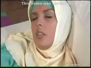 Busty Arab girl masturbating