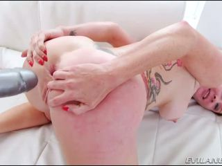 Audrey Hollander Gets Assfucked With A Large Dildo