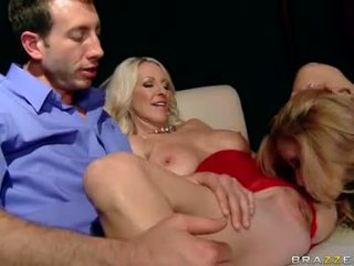 Sizzling blonde Emma Starr shares her lovers manhood to a horny girlfriend
