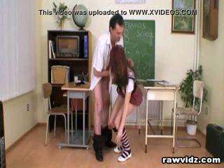 Perv Teacher Bangs Her Naughty Teen Girl Student