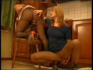 Lezdom Sex Toy on Pantyhose, Free Pantyhose Sex Porn Video