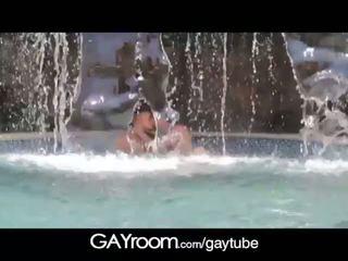 GayRoom Playboys in waterfall grotto wet n wi