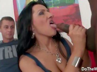 Mature wife with big black dick creampie