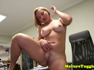 Office Stepmom Tugging Pervert Stepsons Cock: Free Porn 57