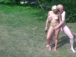 Grandpa & Teens in Public Park - Ordinary Speed &...