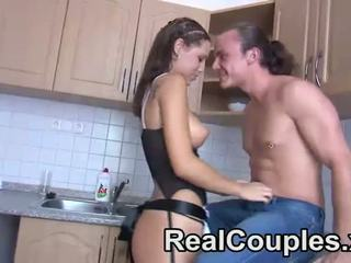 Real couple give oral to each other
