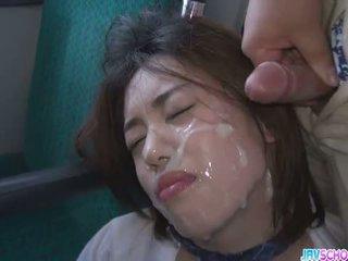 Aluna yuna satsuki asiática broche e público caralho