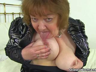 English besta susan pleases henne sulten fitte med en.