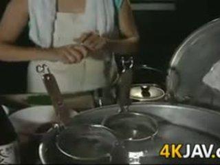 Eldre japansk jente getting knullet