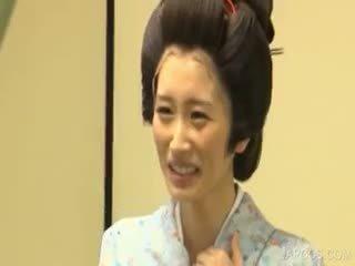 alle japanisch groß, große brüste, sehen uniform spaß