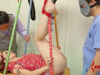 Chained, fucked in her pussy, then taken to Analand for rough assfucking