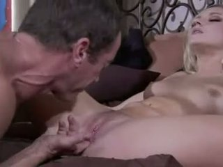 Blonde bombshell Kylee Reece spreads her ass to show her pussy getting shafted