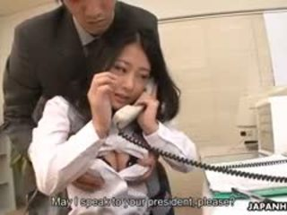 While She's Doing Her Job In The Company Satomi Suzuki Gets