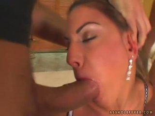 เพศ น่าตกใจ sarah james takes 2 cocks ใน และ ออก เธอ ปาก alternately