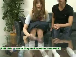 Risa Tsukino Asian Girl Is A Cute Schoolgirl