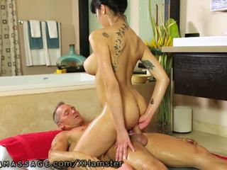 Nuru Massage Asian Slips and Slides on Client: Free Porn fa
