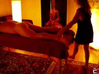 French Blond Massuese Gives A Hot Tantric Massage