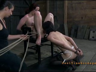 Useless slut is playing her clits