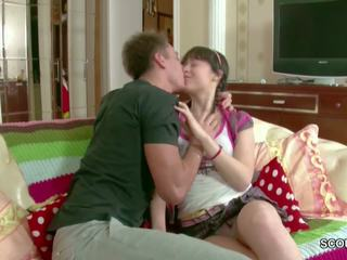 He Seduce Petite Step-sister to Fuck His Big Cock after