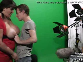 He secretly fucks big boobs plumper