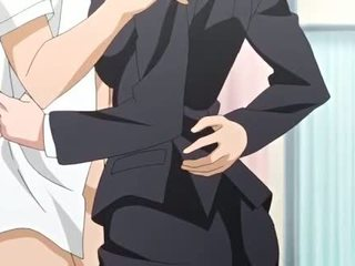 Big meloned anime getting facial