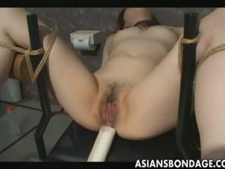Woman Is Filled With Milk Enema And Then Shaved