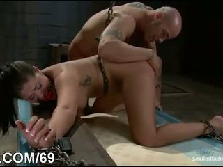 Hot babe bound and ass fucked