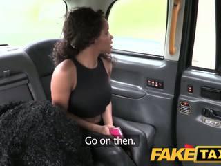 Fake Taxi Ebony babe sucks and fucks in taxi