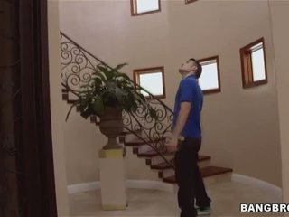 Stepmom Bianca Breeze tricks younger couple