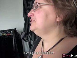 OmaHunter Teen girl licks chubby mature big boobs