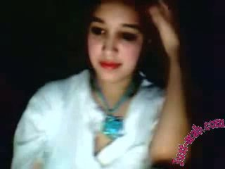 arab girl shows on a webcam