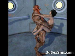 Creatures caralho 3d scifi bebês!