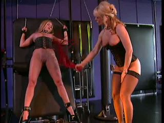 Nina Hartley in bondage and BDSM action with her slave