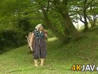 일본의, 포도 수확, 야외