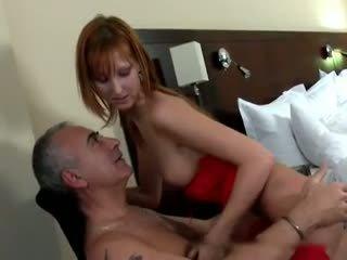 Old Man and Redhead Schoolgirl, Free Hardcore Porn Video ed