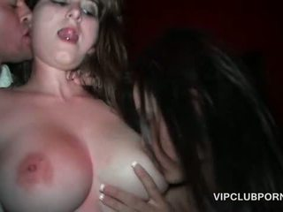 Wet pussies licked and fucked in gangbang at VIP orgy