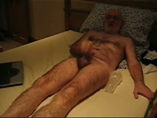 Richard Wanking and cumming with a fleshlight
